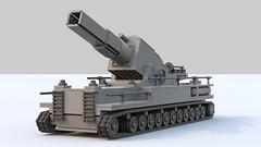 Karl-Gert (TheRookieBuilder) Tags: lego render wwii mortar german siege legodigitaldesigner karlgert bluerender