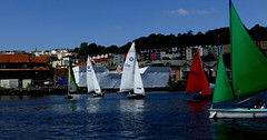 bristol colours sailing tme (forkcandles) Tags: blue red england green water yellow architecture bristol boats outdoor sails may bridges sunny 5d 14th 2016 11 canon bristolferryboats fz1000 forkcandles