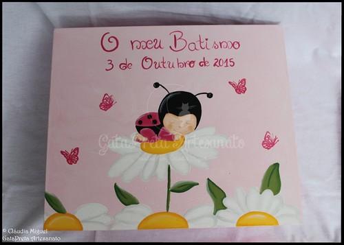 """Caixa grande batizado """"Bebé Joaninha"""""""