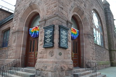 Rainbow flag banners at the First Presbyterian Church of Albany 362 State St, Albany, NY 12210 (RYANISLAND) Tags: flowers flower spring tulips 17thcentury nederland upstateny na tulip albany empirestate newyorkstate albanyny nederlands springflowers tulipfestival albanynewyork iloveny flowerfestival springflower tulipflower newamsterdam ilovenewyork tulipflowers theempirestate albanytulipfestival kingdomofthenetherlands dutchsettlement ny flower flowers spring newyork nyc springtime newyorkcity ilovenewyorkspringdestination albanyny albanynewyork albanytulipfestival tulipfestival tulips dutchtulips upstatenewyork nys springflowers orangewonder orangewondertulip queenwilhelmina holland thenetherlands netherlands dutch welcomespring tulip