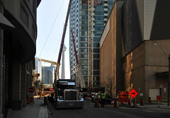 L Tower Crane Removal (Marcanadian) Tags: city toronto ontario canada building tower architecture spring construction downtown crane may esplanade l libeskind removal dismantling castlepoint 2016 cityzen
