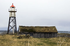 (beast.caged) Tags: sea sky cloud lighthouse house building tower nature water norway architecture coast norge europe north cottage fjord scandinavia troms nordland