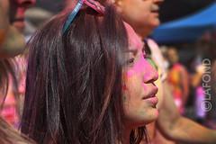 """Joli profil au """"Color Me Rad"""" (Jacques Lafond) Tags: montral couleurs colormerad esplanadedustadeolympique profilencouleur"""