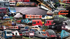 Groe Bahn-Collage | BV780 Kanal-Titelbild (Bergfelder) Tags: bayern dresden norge norwegen zug 420 423 et nsb 103 meridian dampflok 442 146 rathen metronom dvb sonderzug werbelok felsenbhne bahnland bv780