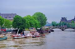 Paris Juin 2016 - 254 Quai de Conti, Pont des Arts, Louvre (paspog) Tags: paris france seine louvre inondation crue pontdesarts inondations quaideconti crues