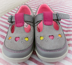 154/366 First Shoes - 366 Project 2 - 2016 (dorsetpeach) Tags: pink baby grey shoes 365 babyshoes 2016 366 toddles aphotoadayforayear 366project second365project