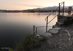 Down to the lake (Diego Pianarosa (aka Pinku)) Tags: sunset lake lago switzerland ticino long exposure tramonto svizzera lugano pinku lungaesposizione diegopianarosa