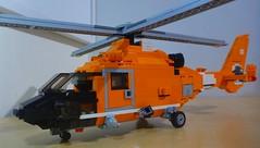 USCG Eurocopter Dauphin (2) (LonnieCadet) Tags: rescue orange brick june america coast us search lego united guard patient helicopter american states custom emergency dauphin heli trauma eurocopter moc uscg 2016 medevac