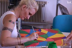 Mij Muse is concentrate on her art #6 (YobeK) Tags: mijnmuze mymuse blonde eyesblue stoer strong foxylady yobekakajohankuhlemeier lekker nice