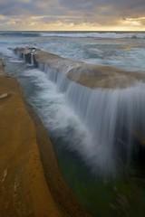 Longboard (ernogy) Tags: ocean california ca sunset sea beach landscape waterfall exposure pacific sandiego lajolla shore ernogy hospitalreef