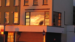 Let's See What's Reflected In The Square Window (Katie_Russell) Tags: ireland sunset sky sun reflection window reflections reflected reflect northernireland ni ulster portrush stationsquare reflects nireland countyantrim norniron coantrim
