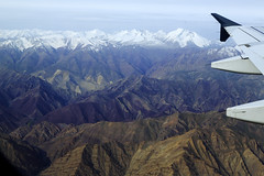 Bird's eye view (Nitin's Photography) Tags: travel snow plane valley leh barren ladakh himalayanmountainrange