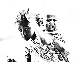 Street, Ethiopia (Rod Waddington) Tags: africa portrait blackandwhite baby girl african traditional streetphotography afrika ethiopia afrique ethiopian thiopien etiopia tigray adigrat