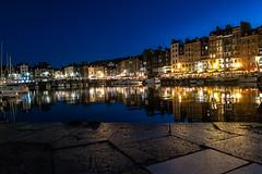 night harbour (alain01789) Tags: light sunset sea mer night port boat harbour normandie honfleur bateau nuit channel manche lumieres