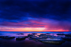 Untameable (stevoarnold) Tags: ocean pink sea sky seascape color water clouds sunrise sydney australia nsw southcoast illawarra littleaustinmer