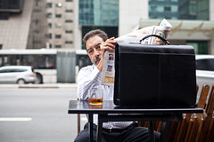 """Whisky A Go Go... 16.54"" Av. Paulista, So Paulo 2012 (VECTORINO) Tags: street man brasil newspaper saopaulo drink whiskey avpaulista martinlazarevphotography"