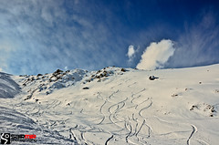 If you look closely at the untrodden paths, you'll realize they have already been conquered. (sairmir) Tags: sky snow skiing kashmir gulmarg