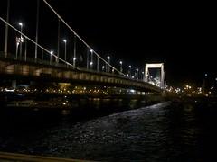 Bridge over Danube river at Budapest
