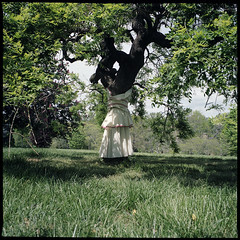 (Ansel Olson) Tags: park tree 120 6x6 mamiya tlr film grass fashion mediumformat virginia spring kodak skirt richmond class va vcu portra rva maymont 160 draping c330 c330s richmondcity mamiyasekor55mmf45
