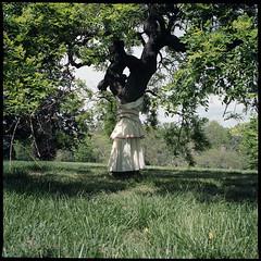 (Ansel Olson) Tags: park tree 120 6x6 mamiya tlr film grass fashion mediumformat virginia spring kodak skirt richmond class va vcu portra rva maymont 160 draping c330 c330s richmondcity mamiyasekor55mmf45