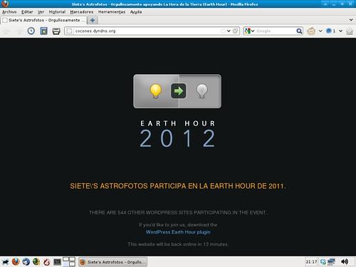 Hora de la tierra 2012