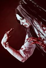 bloody nurse (MysteriaViolent) Tags: blood gothic goth freak gore nurse bloody fakeblood dreadfalls violethair bloodynurse whitecontacts mysteriaviolent