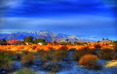 Desert Hot Springs (splinx1) Tags: california blue light sky cloud mountain color green art nature yellow composition desert pentax scenic peak handheld hdr photomatixpro sanjacintopeak pentaxk10d smcpda1855mmf3556al pentaxart