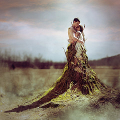Let Love Grow (GillyFace) Tags: boy portrait tree love girl moss couple young stump concept letlovegrow