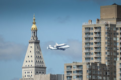 Space Shuttle Enterprise doing a flyover New York City (PM Breakfast) Tags: nyc newyorkcity manhattan transport fast change enterprise spaceshuttle piggyback 747 flyover orbiter odc explored ourdailychallenge