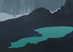 glacial milk 02 (luketwyman) Tags: lake paper paint glacier illustraion