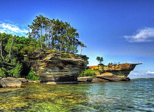 Turnip Rock, Fort Austin, Michigan