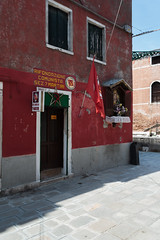Communist party office in Venice (Kyodra) Tags: communism hammerandsickle