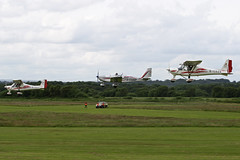 Mainair Formation (QSY on-route) Tags: city family school manchester fun flying airport day aviation flight formation barton 2012 mainair egcb gcdzg gcehv gcdap 01072012
