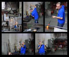 Making of Murano Glass (sownak) Tags: blue venice hot art glass collage canon europe artist italia factory blow murano venezia italyeaster 1000d sownak