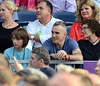 Daniel Day Lewis watches Bruce Springsteen perform at The RDS Dublin, Ireland