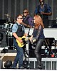 Bruce Springsteen and wife Patti Scialfa perform at The RDS Dublin, Ireland
