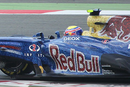 Mark Webber in his Red Bull Racing F1 car during the 2012 British Grand Prix at Silverstone