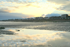 Sunset (larigan.) Tags: houses sunset clouds reflections sand apartments shingle tranquility pebbles flats lowtide eastsussex breakwaters bexhillonsea coastalresort larigan phamilton gettyimageswants gettywants capturingenglishsummer