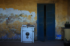 The deserted house with the old washing machine (Lisandro M. Enrique) Tags: door old blue house texture textura kitchen entreros argentina yellow azul vintage casa puerta paint rusty cocina oldhouse amarillo aged washingmachine antiguo pintura casavieja lavarropas rugoso amtique descascarado sonya77