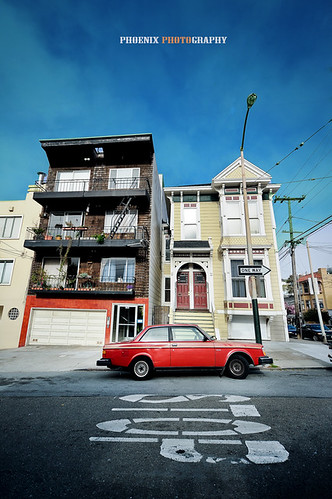 red car in San Francisco [Explored again! :)]
