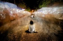 Won't Someone Please Stop?! (Greg - AdventuresofaGoodMan.com) Tags: musician thailand market beggar motionblur thai singer chiangmai streetmusic sundaymarket begger changmai peoplewalking chiangmaisundaymarket