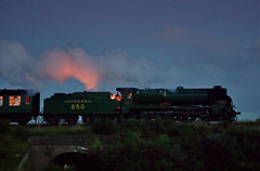 Lord Nelson at Night (Arle Images) Tags: night steam manualfocus midhantsrailway smca50mmf17 mhr nightsteam pentaxk5