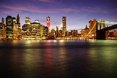 Manhattan (Génial N) Tags: ny newyork brooklyn pentax manhattan nightlight brooklynbridge pentaxkr