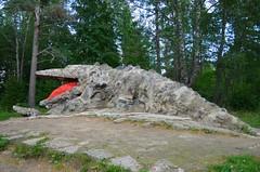 Glehni krokodill (anuwintschalek) Tags: red summer sculpture rot tongue tallinn estonia dragon sommer july skulptur crocodile 2012 eesti zunge drache suvi estland krokodil keel nmme 18200vr punane krokodill nikolaivonglehn d7k skulptuur glehnipark nikond7000 raudkivi glehniloss glehnimets glehnikrokodill