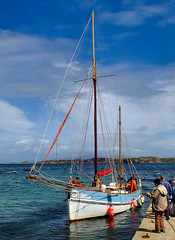 Come Sail With Me... (wivvy is getting there.) Tags: sea sky seascape clouds sailing sails mast rigging xs1 birthemarie