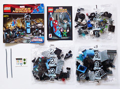6873 Contents (Oky - Space Ranger) Tags: lab iron lego ultimate anniversary review spiderman super fist heroes marvel doc academy universe ambush ock reviewers 6873 eurobricks
