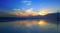Sunset Beach Reflection