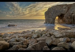 Sunset On The Arch (Emmanuel Leme | Photographie) Tags: sunset france beach saint creek port photoshop soleil nikon europe raw arch pierre coucher bretagne cte plage morbihan blanc hdr emmanuel arche sauvage atlantique ocan quiberon photomatix crique leme cs5 d3000 pecoreproduction