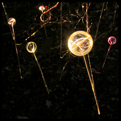 Optic Sprout, Kennett Sqaure, PA (Grufnik) Tags: light art glass yellow gardens night forest square geotagged glow pennsylvania bruce pa sphere installation fiber longwoodgardens sprout longwood 2012 optic kennett munro kennettsquare geo:lat=39875095 geo:lon=7567479