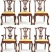 30. Set of 6 Chippendale style Chairs